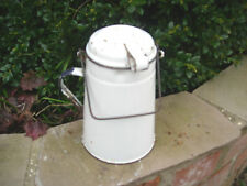 Vintage White Enamel  Storage Container / Tea Cannister   - Kitchenalia (784)