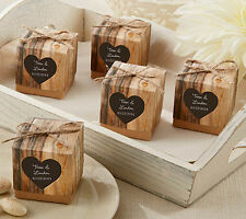 Vintage Hearts Shabby Chic Rustic Wedding Favour Boxes 50pcs Jute Twine brown