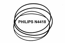 COURROIES SET PHILIPS N4418 MAGNETOPHONE A BANDE EXTRA FORT NEUF FABRIQUE N 4418