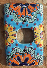 Talavera Mexican Pottery wall plate light switch single outlet cover multi color