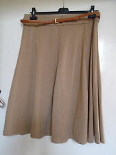 Camel Brown New Yorker Style Skirt by M&Co in Size 14 - NWT