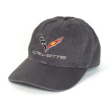 C7 Corvette Charcoal Gray UNSTRUCTURED Garment Washed Cotton Hat
