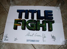 "Title Fight ""Floral Green"" Autograph Signed Poster The Wonder Years Touche Amore"