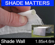 New  Heavy Duty Caravan Annexe Shade Wall 280gsm For Roll Out Awning 4.6m x 1.85