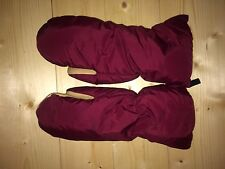Holubar USA Made Vintage Medium Mittens Mitts 700 Goose Down Leather Rare NICE