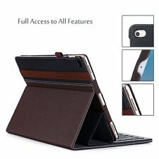 Apple iPad Pro Note Case 12.9-Inch Stand Smart Keyboard Elastic Leather Cover