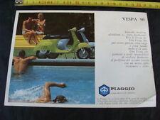 BROCHURE DI UNA PAGINA VESPA 50 1969 PIAGGIO OLD SCOOTER EPOCA ITALY
