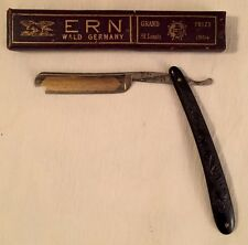 Rare Worlds Fair St Louis 1904 ERN Straight Razor Grand Prize Wald Germany 892