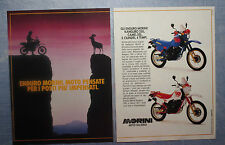 MOTOSPRINT987-PUBBLICITA'/ADVERTISING-1987- MORINI ENDURO KANGURO 350+CAMEL 501