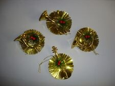 96 New Assorted Designs Gold Tinsel/Instrument Christmas Tree Decorations Deal !