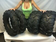 2 FRONT 25x8-12 and 2 Rear 25x11-10 ATV MUD REBEL TIRES 25x8x12 25x11x10  8 11