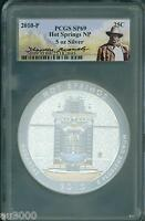 2010-P HOT SPRINGS NP ATB 5 OZ. SILVER PCGS SP69 Theodore Roosevelt SP-69