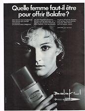 PUBLICITE   1970    LANCOME  parfum  BALAFRE