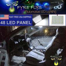 1x 6000K Xenon White 48 LED Panel Light for Dome, Map, Cargo, Trunk lights #48PW