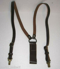 Genuine leather Y straps braces Vintage ARMY suspenders - Perfect NU