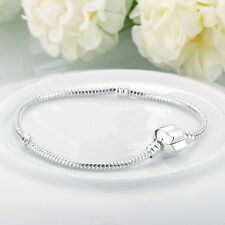 New 925 Silver Filled European Chain Bracelet  Bangle for Beads Charms Pendants