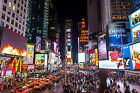 "TIMES SQUARE CANVAS PICTURE 24""X16"" NEW YORK CITYSCAPE MODERN WALL ART PRINTS"