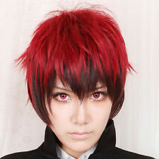 Kuroko's Basketball Kagami Taiga Dark Red and Black Short Cosplay Party Wig