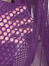 Poly Spandex Pointell Wave Mesh Fabric - 1 yard Pre Cut -  Eggplant Color
