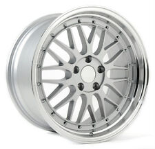 (READ LISTING) 1 - 18x8.0 BBS LM Style Replica Wheels Rims 5x120 Silver
