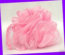 1 Bath & Body Works Small PINK Twisted Handle Soft Fluffy Shower Sponge Loofah
