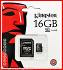 16GB KINGSTON MICRO SD HC MICROSDHC + ADAPTOR MEMORY CARD MOBILE PHONE CAMERA