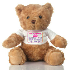 Personalised Mummy Teddy Bear Soft Toy - Personalised with ANY MESSAGE  - 25cm