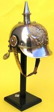 PICKLE HAUBE WW I GERMAN ARMOR SPIKED PURSSIAN OFFICER HELMET WITH LEATHER LINER