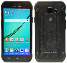 New inBox Samsung Galaxy S6 Active G890A 32GB AT&T Unlocked Camo Blue Smartphone