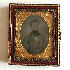 Antique circa 1850-1860 Ambrotype 1/9th (glass positive with black ba... Lot 39I