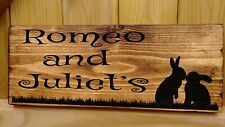 SINGLE or DOUBLE Personalised RABBIT NAME Sign Plaque Hutch run cage door gift