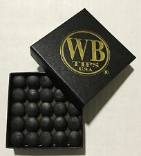 WB Black Water Buffalo Pool Cue Tips Full Box of 50 tips