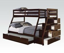 "Acme ""Jason"" Espresso Bunk Bed w/Storage Drawers Twin Top/ Full Bottom 37015"