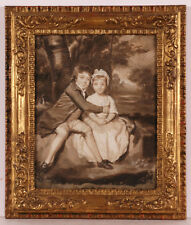 "Sir Joshua Reynolds-Follower ""John and Theresa Parker"" Oil Painting Late 18th c."