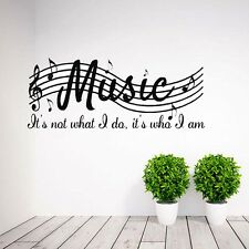 Hot Vinyl Mural Home Decor Wall Room Music Musical Notes Removable Decal Sticker
