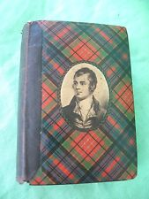 Old antique 1902 Robert Burns Caledonia  Tartan Ware Poetical Works  Book