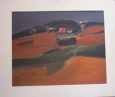 Stewart LEES - Peinture acrylic Street Henri HAYDEN 1978 Edinburgh Scotland