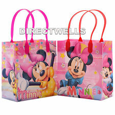 6 Pcs Disney Minnie Mouse Authentic Licensed Small Party Favor Goodie Bags