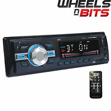 NEW Bluetooth single Din Car Stereo Radio Remote 4x50 Watt Mechless USB SD USB
