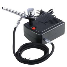 New Airbrush Kit Compressor Nail Art Tattoo Dual-Action Spay Air Brush Gun Set
