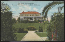 1910s POSTCARD MOVIE STAR HOME WILL ROGERS BEVERLY HILLS CA CALIFORNIA