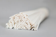 PP Plastic welding rods (6mm) white, pack of 20 pieces  /flat strips shape/