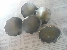 5 Antique Bronze Ring Blanks and 25mm Cabochons Make your own vintage jewellery