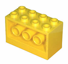 Missing Lego Brick 6061 Yellow Brick 2 x 4 x 2 Holes on Sides 6180 6176 6199