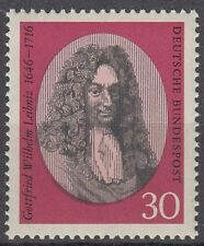 Germany Bund BRD 1966 Mi 518 ** Leibniz Philosoph Gelehrter Philosopher