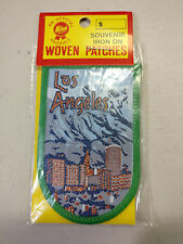 "COLLECTABLE SOUVENIR IRON ON WOVEN PATCHES 2"" W X 3"" H LOS ANGELES"