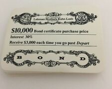 1979 Fortune 500 Game Replacement Bond Certificates 24 Total