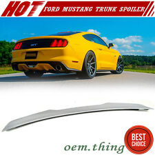 Unpainted ABS Ford Mustang V6 2D Coupe V Look Rear Trunk Boot Spoiler 2015up