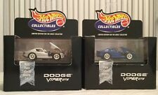 HOT WHEELS COLLECTIBLES DODGE VIPER GTS ( 2 VARIATIONS ) BOTH MINT IN BOX