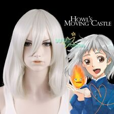 Howl's Moving Castle Sophie Medium Grey Anime Cosplay Wig